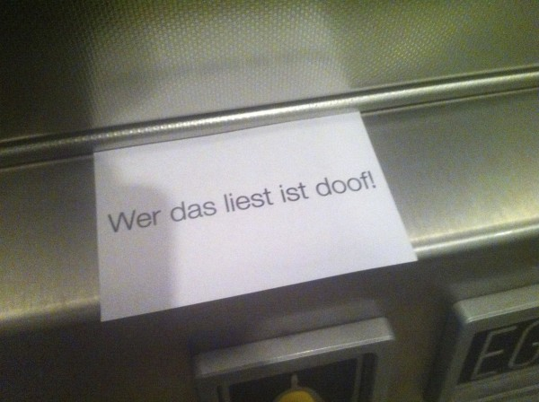 im Aufzug