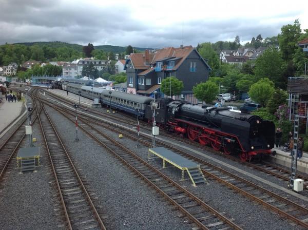 Bahnhof Königstein am 20. Mai 2013